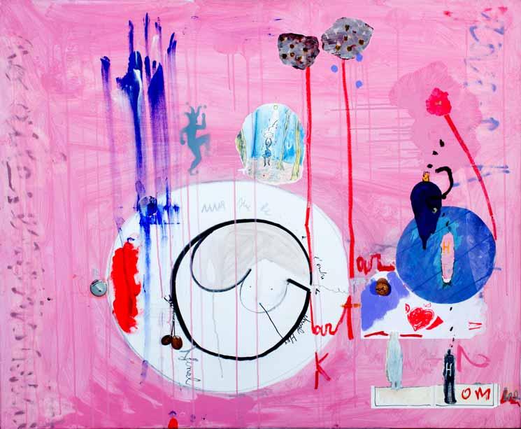 Singing in the rain, technique mixte, 100 cm x 120 cm, 2011