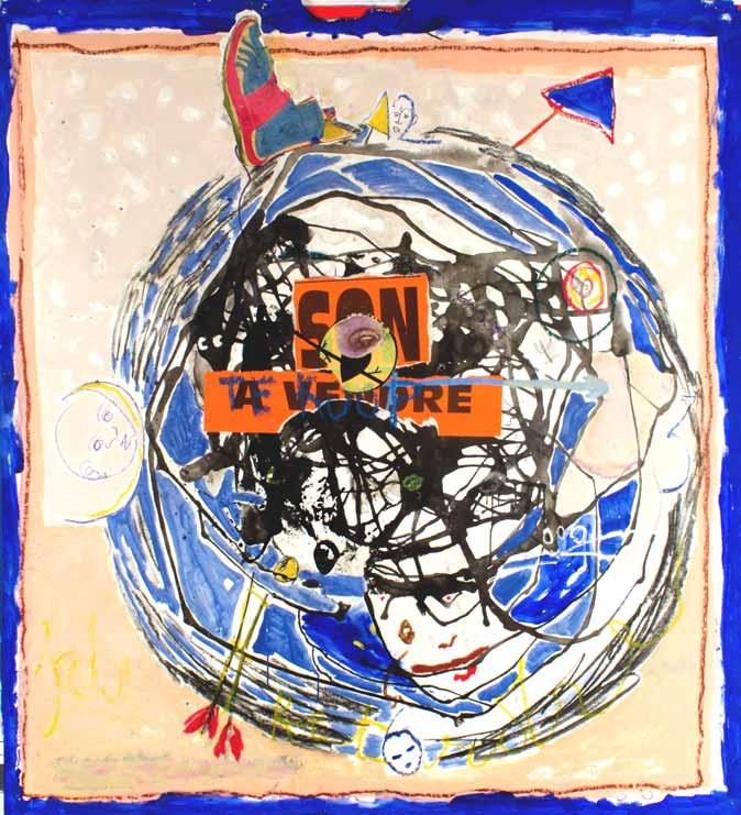 Son/ a vendre-- Te Koop, technique mixte, 170 cm x 152 cm, 2011