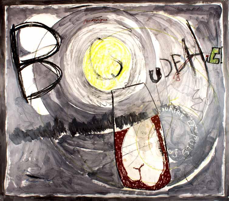 BOUDDHIC!, technique mixte, 150 cm x 172 cm, 2010