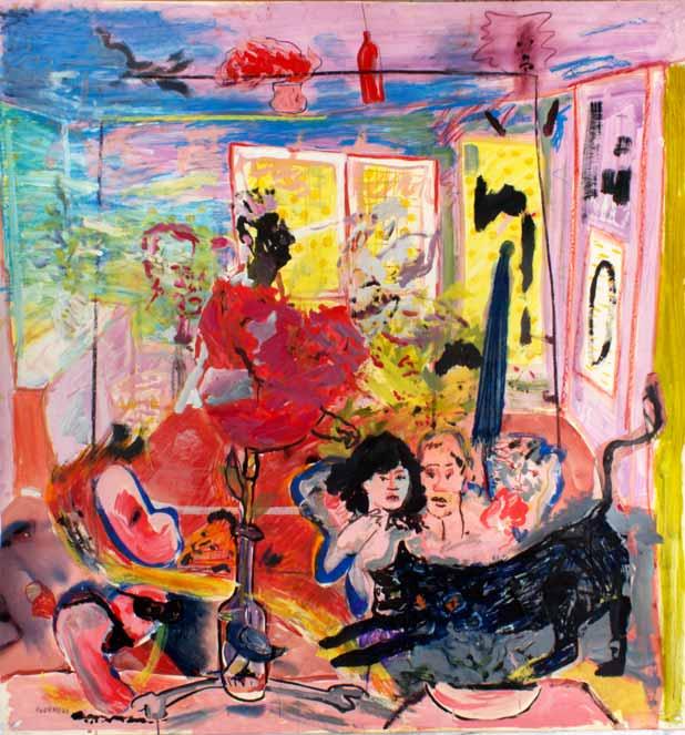 Taverne Saint-Paul, technique mixte, 150 cm x 142 cm, 1980