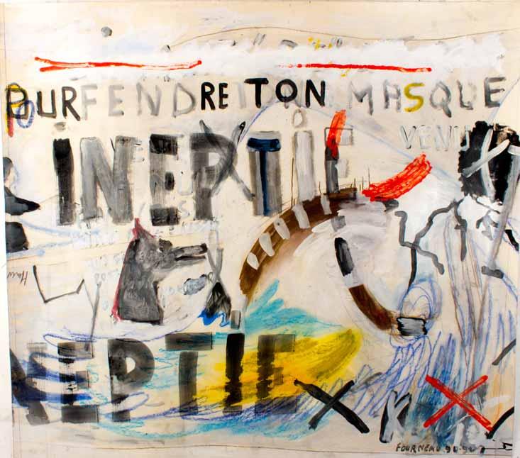 Ineptie, technique mixte, 150 cm x 160 cm, 1990